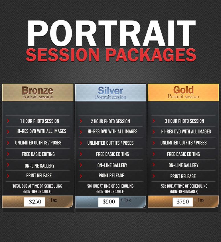 Portrait Session Pricing 6.8