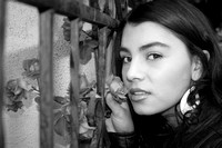 Old Town Black and White Albuquerque New Mexico Fine Art Portrait and Modeling Photography David Martinez Photography